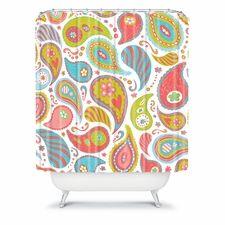 Power Paisley Shower Curtain