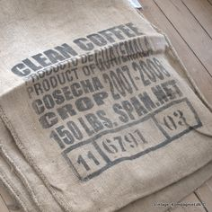 Old coffee bean sack ;o)