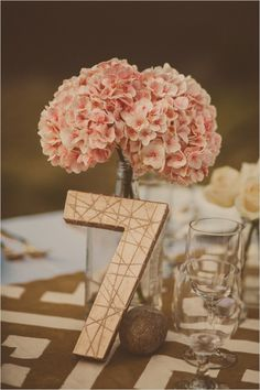 DIY Palm Springs Wedding at Cree Estates, coordinated by Galas By Gerry, and photographed by Yuna Leonard. Wedding Wishes, Diy Wedding, Rustic Wedding, Dream Wedding, Gold Wedding, Wedding Ideas, Wedding Table Decorations, Diy Centerpieces, Wedding Table Numbers