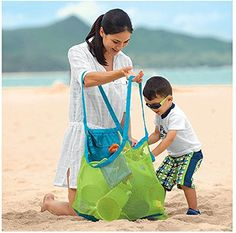 Buy Xplanet Large Mesh Beach Bag, Beach Necessaries Family Beach Toys Shell Bag Toy Storage Bag Stay Away from Sand & Water, Perfect for Holding Toys, Balls, or Other Beach Items at beachaccessoriesstore Kids Beach Bag, Beach Tote Bags, Oversized Beach Bags, Amazon Mode, Kids Sand, Beach Items, Sand Toys, Toy Storage Bags, Tote Organization