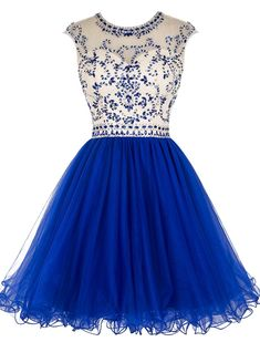A-line homecoming dresses, royal blue homecoming dresses, beaded homecoming dresses, backless homecoming dresses, open back homecoming dresses, short prom drsses, party gowns, formal dresses#SIMIBridal #homecomingdresses