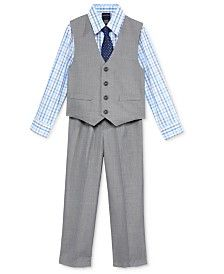 Nautica Little Boys' 3-Pc. Sharkskin Vest, Shirt & Pants Set