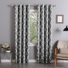 aurora home moroccan tile curtain panel pair - Room Darkening Curtains