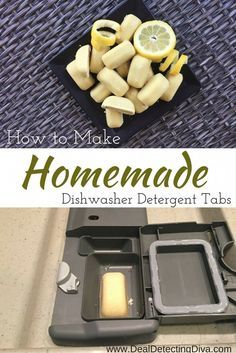 How to Make Homemade Dishwasher Detergent Tabs - Deal Detecting Diva Homemade Cleaning Supplies, Cleaning Recipes, House Cleaning Tips, Cleaning Hacks, Soap Recipes, Cleaning Solutions, Homemade Dishwasher Detergent, Dishwasher Tabs, Dishwasher Cover
