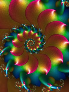 Spirals r us by ~pinkal09 - #fractal This world is really awesome. The woman who make our chocolate think you're awesome, too. Please consider ordering some Peruvian Chocolate today! Fast shipping! http://www.amazon.com/gp/product/B00725K254