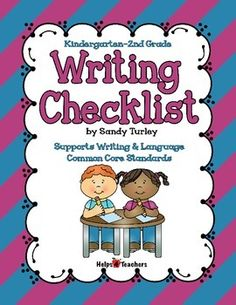 This is a checklist to help your students proof read their written work. It has picture prompts to help them remember the steps they need to take as they proof read.       This file includes a checklist for Kindergarten, 1st Grade and 2nd grade as well as a generic checklist.