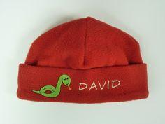 Fleece Mütze Schlange *mit Namen* von HEXEnART auf DaWanda.com