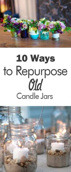 10 Ways to Repurpose Old Candle Jars - 101 Days of Organization