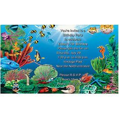 Under the Sea Blank Free Invitations to Print at Home   Printable Ocean Birthday Party Invitations For Kids - Index of /