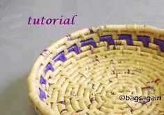 Tutorial recycled plastic bag coil basket by bagsagain on Etsy Plastic Bag Crafts, Recycled Plastic Bags, Plastic Recycling, Recycling Ideas, Plastic Shopping Bags, Plastic Grocery Bags, Bowls, Recycled Fashion, Recycled Clothing