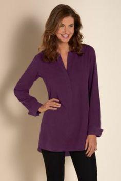 a6a8c4b1a31 Silk Sunday Shirt - Loose Fit Silk Shirt, Long Sleeve Silk Shirt   Soft  Surroundings