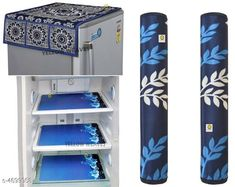 Checkout this latest Fridge Cover Product Name: *Radical Designer Appliance Fridge Covers , Handle Covers & Mats* Material: Top Cover & Handle Cover- Polyester Fabric Mats - PVC Size (L X H X W): Top Cover  - 42 Inches X 21 Inches Mat - 11 Inches X 17 Inches Handle Cover - 5 Inches X 13 Inches  Description: It Has 1 Piece Of Fridge Top Cover 2 Pieces Of  Handle Covers & 3 Piece Of Fridge Mats Work: Printed Country of Origin: India Easy Returns Available In Case Of Any Issue   Catalog Rating: ★4 (1482)  Catalog Name: Radical Designer Appliance Fridge Covers Handle Covers & Mats Vol 15 CatalogID_682561 C131-SC1623 Code: 552-4699058-585