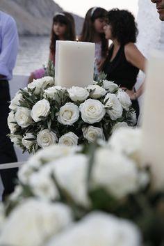 Olives & white roses