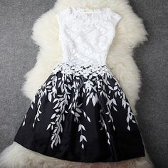 "I like this dress, but am worried that it says ""dark blue lace dress"". it looks black and white to me! Pretty Outfits, Pretty Dresses, Beautiful Dresses, Gorgeous Dress, Lace Dress, Dress Up, White Dress, Gown Dress, Dress Black"
