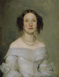 Johann Baptist Reiter, Dame in hellblauem Kleid, 1840, Öl auf Leinwand, 56 x 43 cm, Belvedere, Wien, Inv.-Nr. 5578\n
