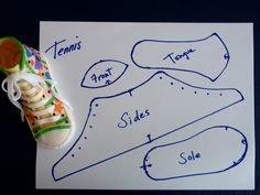 Template for Converse Tennis Shoe by Art Cakes, via Flickr