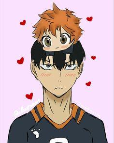 #haikyuu #kageyama #hinata #chibi #fanart #couple #animecouple