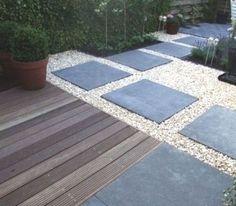 all e de jardin pour un am nagement ext rieur original et d co dalle de beton gravier et all e. Black Bedroom Furniture Sets. Home Design Ideas