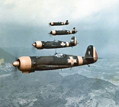 Magnificent colour photo of a flight of  Romanian IAR 80s over the Carpathian mountains.