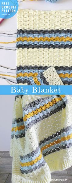 "Baby Blanket #BoxedStitch #FreeCrochetPattern #CrochetBabyBlanket | size: 36"" X 45"" | Written | US Terms Level:upper beginneryarn: Caron Simply Soft Solids / Aran (8 wpi) hook: 5.0 mm (H)Author: by daisyfarmcrafts"