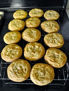 Butterscotch and White Chocolate Chip cookies