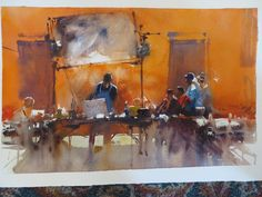 Alvaro Castagnet demo 10/7/14 of table, mirror and people watching demo
