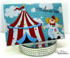 Circus City, Frantic Stamper, Big Top, Kids Cards, Tent, Birthday Cards, Holiday Decor, Die Cutting, Card Ideas