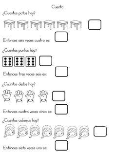 Cuaderno interactivo multiplicación - Imagenes Educativas Math 2, Fun Math, Math For Kids, Algebra, Homeschool, Teacher, Education, Facebook, Foto Bts