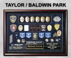 Taylor - Baldwin Park PD Reirement Presentation Shadowbox from Badge Frame