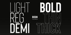Bison Font: Bison is a sophisticated and strong family of sans serif fonts. Great Fonts, New Fonts, Russian Fonts, Condensed Font, Graffiti Font, Font Face, Typography, Lettering, Sans Serif Fonts