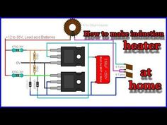 how to make induction heater at home Hobby Electronics, Electronics Components, Electronics Projects, Electronic Circuit Projects, Electronic Engineering, Electrical Engineering, Electrical Circuit Diagram, Power Supply Circuit, Induction Heating