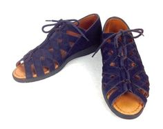 Beautifeel Womens Israel Navy Blue Leather Strappy Comfort ...