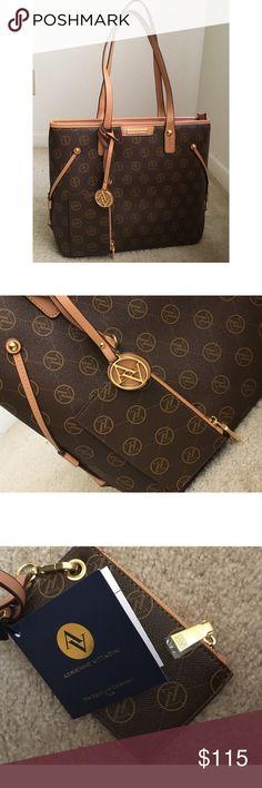 Adrienne Vittadini Handbag This handbag include a wallet, small pocket inside, an interior zipped pocket. Adrienne Vittadini Bags Shoulder Bags