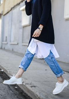 d5a9c8309f72 Street Style Dress Over Jeans