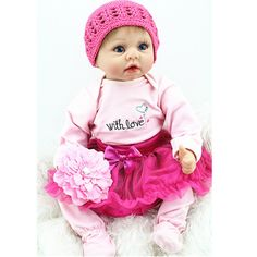 "94.02$  Watch here - http://alidnp.worldwells.pw/go.php?t=32753400986 - ""[SGDOLL] 2017 New  22"""" Handmade Reborn Baby Doll Newborn Lifelike Dolls Soft Silicone Vinyl Girl  Free Shipping 15103136"" 94.02$"