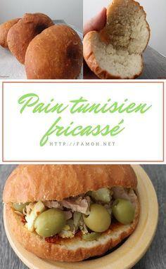 Recette pain tunisien fricassé.