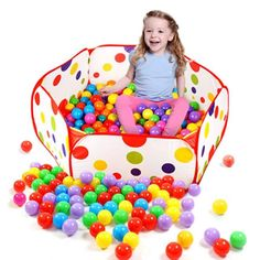 Pop up Hexagon Polka Dot Children Ball Play Pool Tent Carry Tote Toys for children kids