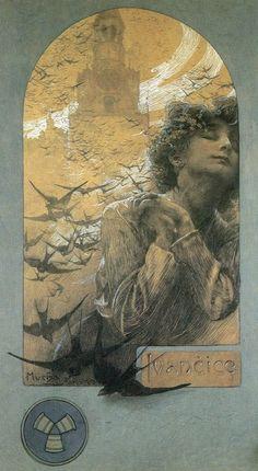 Meet the Classic Artist: Alphonse Mucha Inspiration Art, Art Inspo, Art Nouveau Prague, Illustrator, Alphonse Mucha Art, Jugendstil Design, Art Graphique, Illustrations And Posters, Mail Art