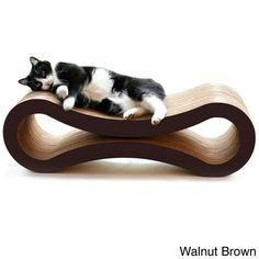 Custom-made for cats who enjoy scratching, playing and lounging around, this scratcher offers your cats a comfortable place to rest and scratch at the same time.