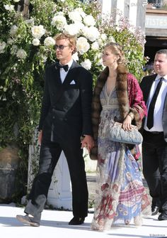 Pierre Casiraghi and Beatriz Borromeo ,  at The wedding of Noor Fares and Alexandre Al Khawam