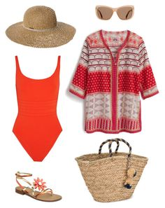 """""""Beach day"""" by billandnancy on Polyvore featuring Eres, J.Crew, NLY Accessories, Billabong and Tom Ford"""