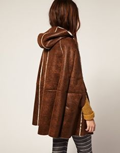 Enlarge ASOS Faux Shearling Cape