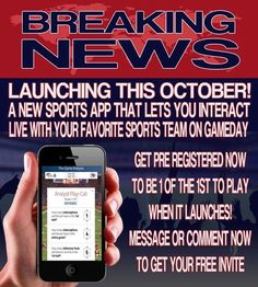 **ATTENTION**SPORTS**FANATICS**GAMERS** WHO'S READY TO BE A FREE PLAYER ON THE ONLY INTERACTIVE SPORTS APP IN THE WORLD THAT'S COMING IN OCTOBER!?!? WIN AMAZING PRIZES! PLAY WITH FRIENDS, CELEBRITIES, ECT.... MESSAGE ME NOW OR GO TO PLAYERSWANTED.INFO