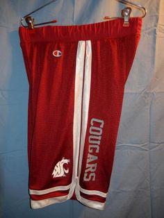 Men's Washington State Cougars Basketball Shorts Champion MED Preowned Red WSU #Champion #WashingtonStateCougars