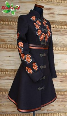 Inspired by Polish Folk Costume Folk Fashion, Ethnic Fashion, Womens Fashion, Petite Fashion, 80s Fashion, Grunge Fashion, Vintage Fashion, Embroidered Clothes, Mode Vintage