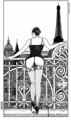 Apollonia Saintclair es una ilustradora que hace de lo erótico y la provocación una manifestación artística de la liberación sexual.
