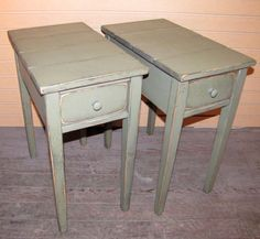 TWO Distressed Shaker End Tables   Rustic by WillowIslandPrim, $159.99