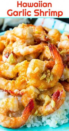 hawaiian food recipes Hawaiian Garlic Shrimp have so much garlic flavor and are best served over a bed of white rice to soak up the garlic sauce. This easy appetizer or meal can be made in just minutes. Fish Recipes, Seafood Recipes, Cooking Recipes, Asian Recipes, Hawaiian Garlic Shrimp, Hawaii Garlic Shrimp Recipe, Garlic Shrimp Recipes, Spicy Garlic Shrimp, Hawaiian Dishes