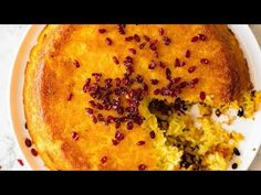 The golden crust on this Persian Saffron Rice looks and taste incredible! Called Tachin, this rice is made with yogurt, saffron, yolks and butter. Persian Lamb Shank Recipe, Rice Side Dishes, Saffron Rice, Baked Rice, Recipetin Eats, Exotic Food, Golden Crust, Meals For The Week, Recipes