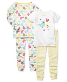 Carter's Baby Pajamas, Baby Girls 4-Piece PJs - Kids - Macy's